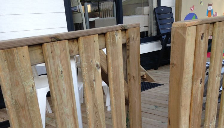 Gusto Baby - veranda met hekje