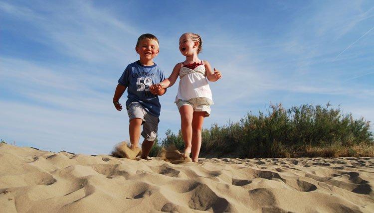 Italië, Adriatische kust - kids strand